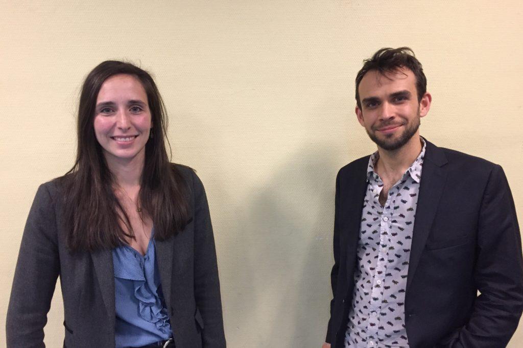Solène Mesnager et Maël Rannou, binôme chef de file d'EÉLV Mayenne  pour les régionalesde  2021.